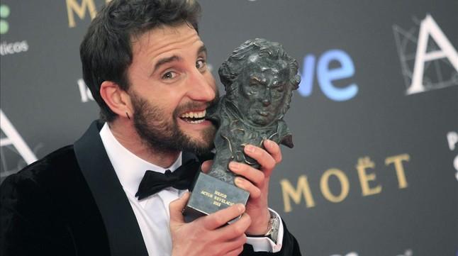 Dani Rovira, maestro de ceremonias de la gala, el año pasado tras conquistar su Goya al mejor actor revelación.