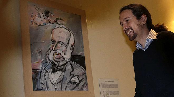 Pablo Iglesias opina sobre el espect�culo de titiriteros de Madrid