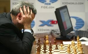 Gari Kasparov contra Deep Blue, en una de las partidas.