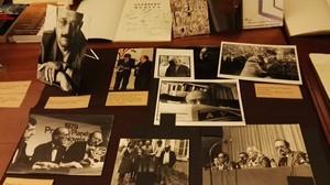 Algunas de las fotografáis de manuel Vázquez Montalbán cedidas a la Biblioteca de Catalunya.