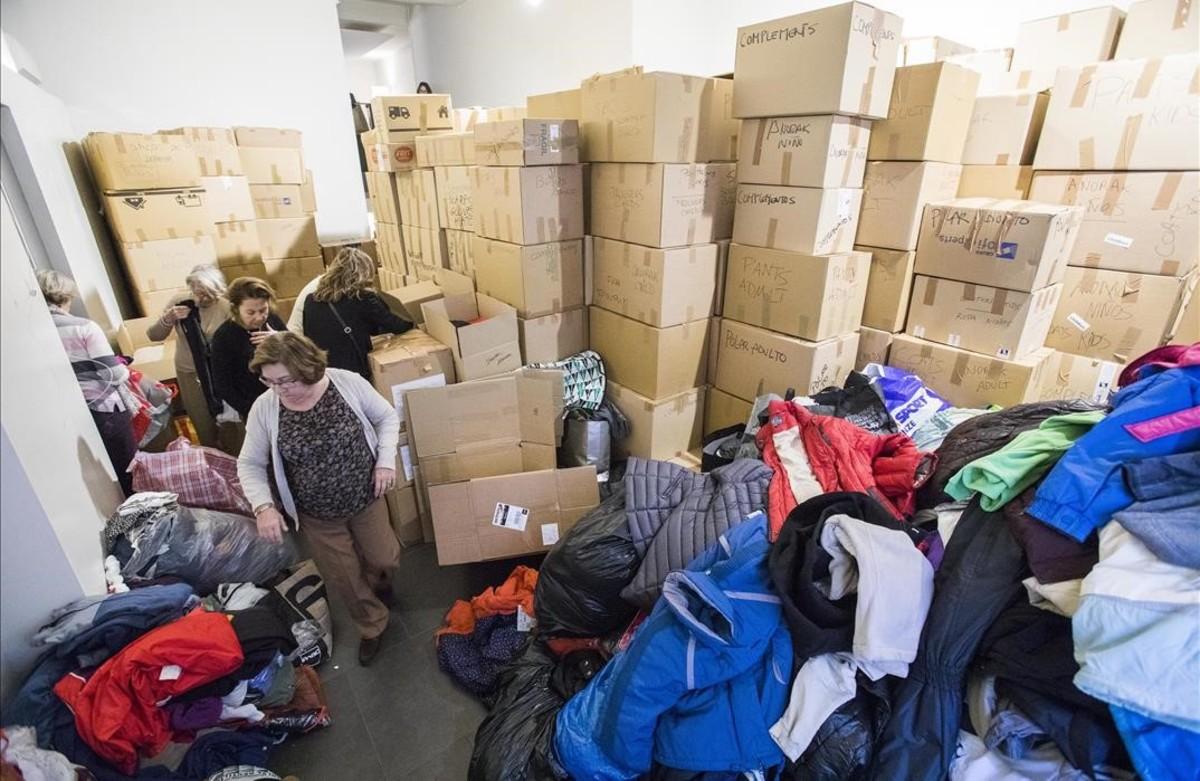 Recogida de ropa de invierno para los campos de refugiados de Lesbos