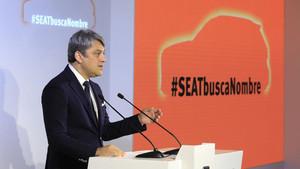Luca de Meo, en la presentación de la iniciativa #SEATbuscaNombre el pasado 1 de junio