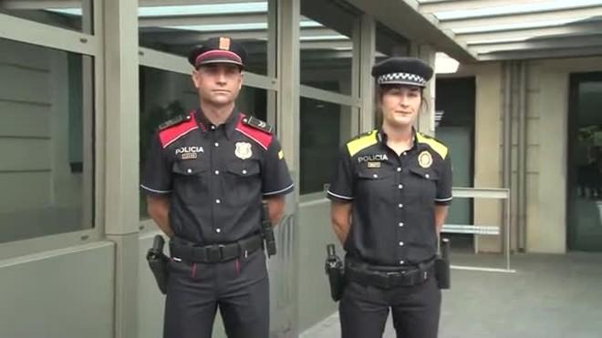 Els Mossos dEsquadra i la policia local estrenen nous uniformes.