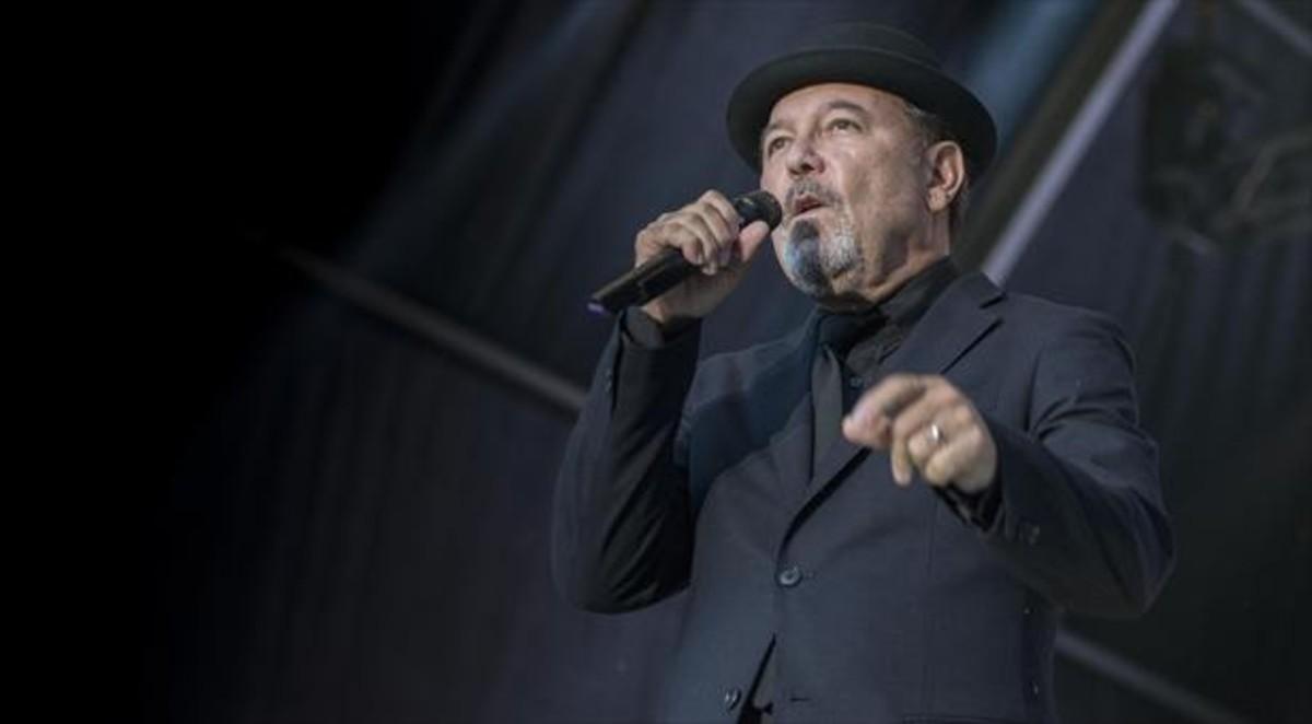 Rubén Blades, anoche, en el Poble Espanyol de Barcelona.