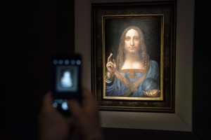 Salvator Mundi, el cuadro de Leonardo da Vinci subastado en Nueva York.