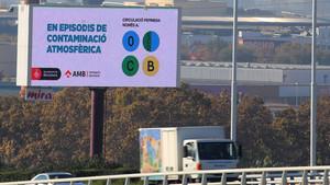 Señalización por contaminación en el Hospitalet de Llobregat