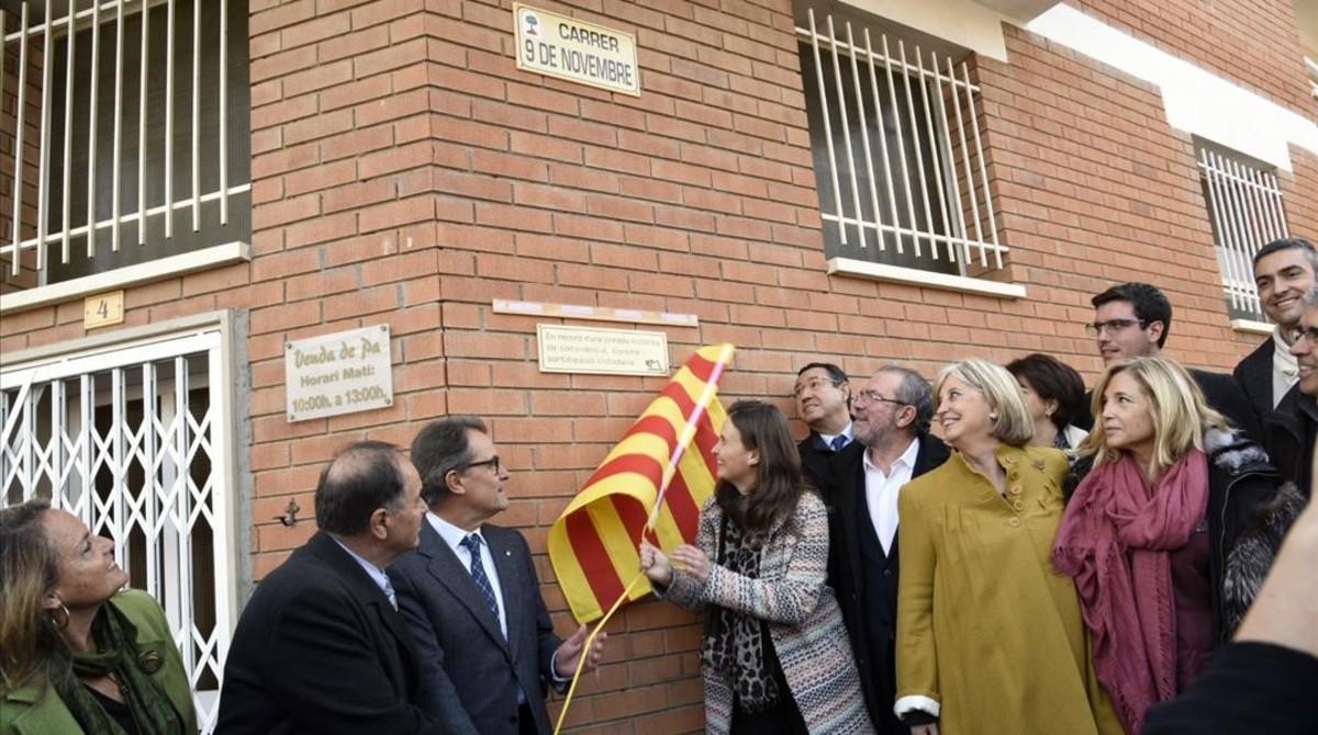 Artur Mas inaugura el callejón sin salida dedicado al 9-N