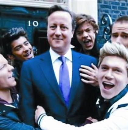 Cameron hace un cameo solidario con One Direction