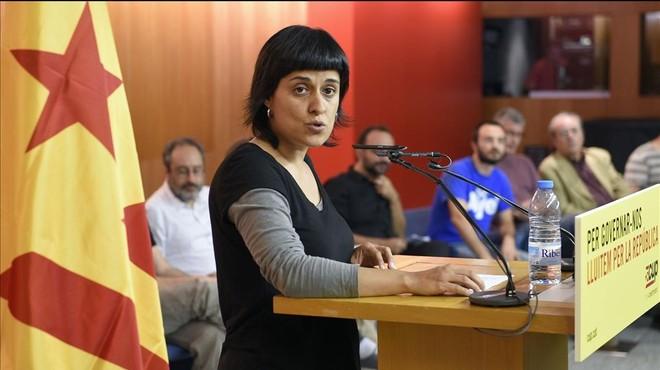 """Anna Gabriel: """"La Diada serà l'inici de la campanya del referèndum"""""""