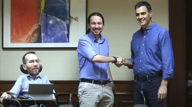 PSOE y Podemos se coordinan para que el Congreso se implique en el reto secesionista