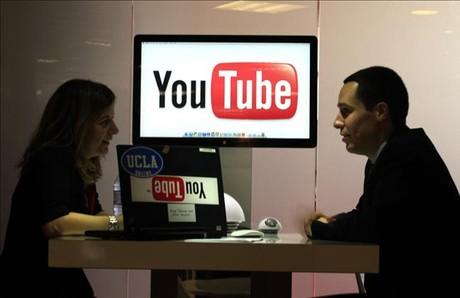 Pavell� de YouTube a la passada fira internacional del Midem, a Cannes (Fran�a).