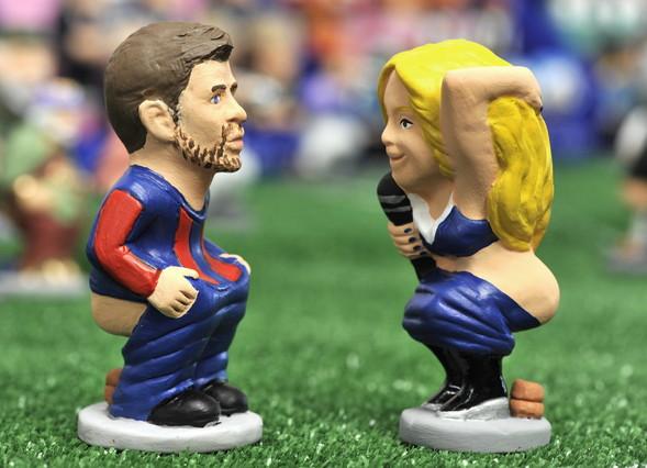 Shakira y Piqué, caganers novedosos de esta Navidad.