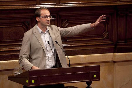 El secretario general de ICV, Joan Herrera, en una sesin del Parlament.