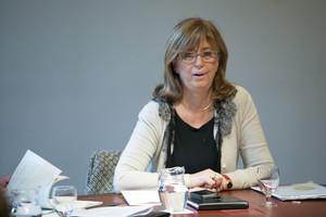 Irene Rigau, durante la reunión del Govern, el pasado martes.