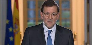 Mariano Rajoy, durante la rueda de prensa en la Moncloa.