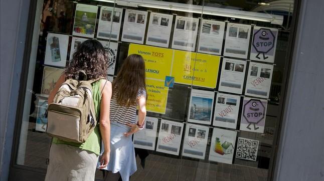 Anuncios de pisos en venta, en Barcelona.