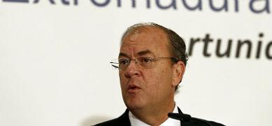 El presidente de Extremadura, Jos� Antonio Monago, en el desayuno informativo que ha ofrecido este lunes en Madrid.