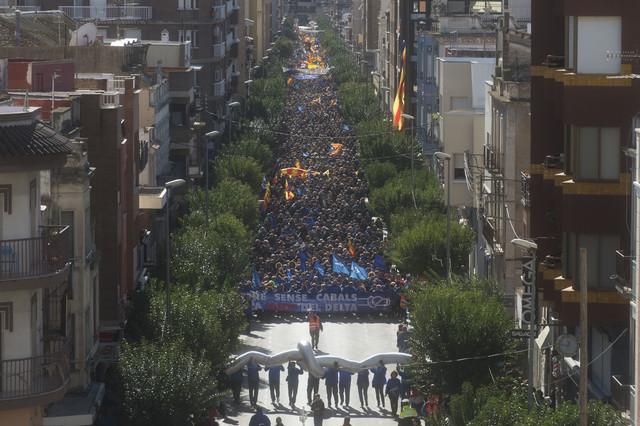 Miles de personas han marchado por las calles de Amposta.