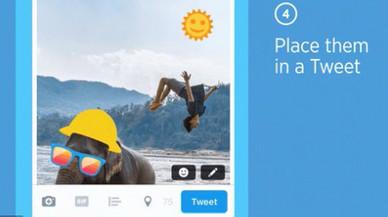Twitter incorpora els adhesius per a les fotos