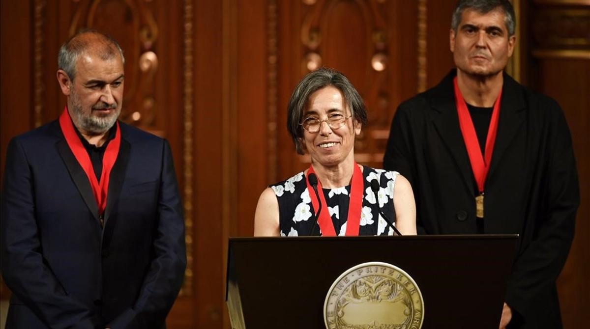los catalanes aranda pigem y vilalta reciben el premio pritzker en tokio