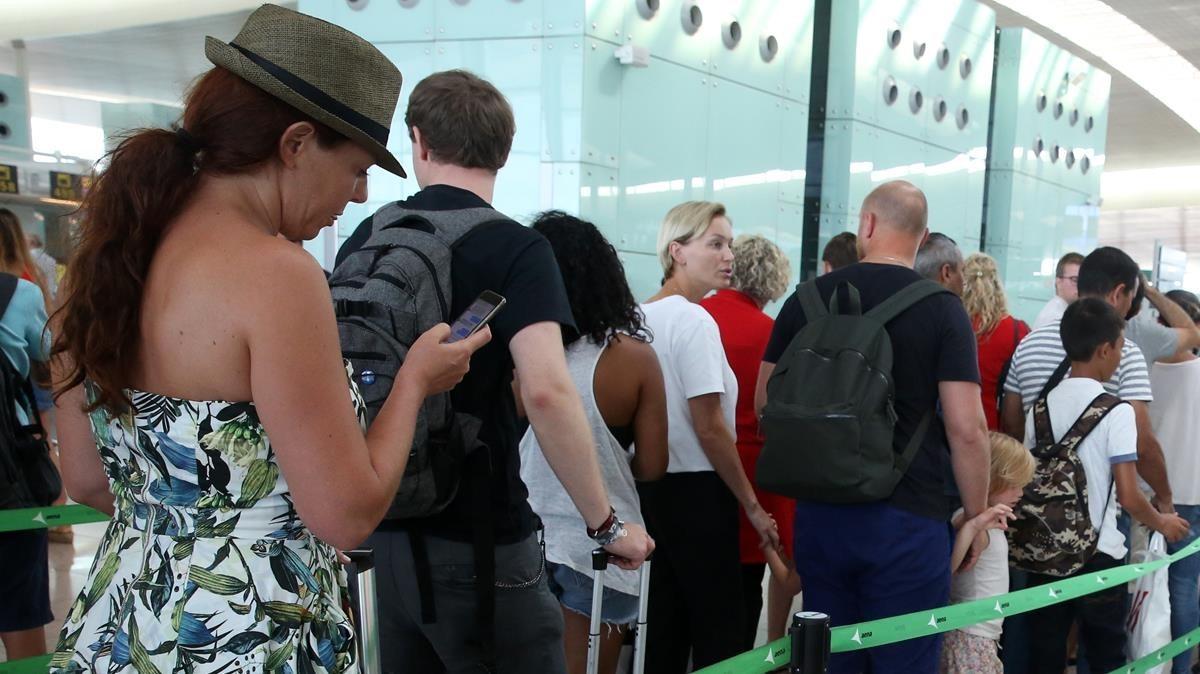 Coola en el aeropuerto del Prat.