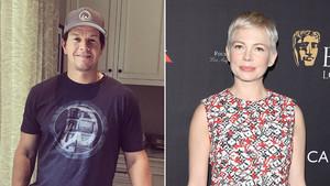 Combo de los actores Mark Wahlberg y Michelle Williams