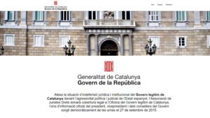 Captura de pantalla de la web del Govern de la República.