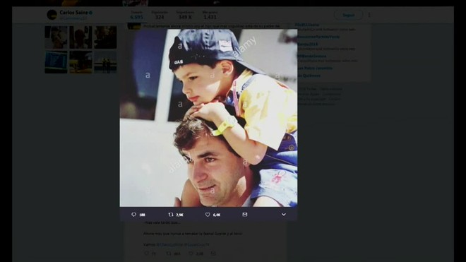 Carlos Sainz hijo felicita a su padre, soy el hijo más orgulloso.