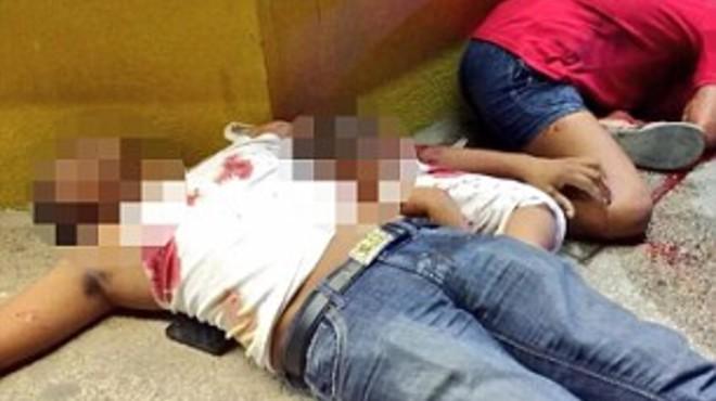 La familia fue asesinada en plena calle