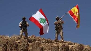 L'Exèrcit libanès fa onejar la bandera espanyola després de prendre territoris a l'Estat Islàmic