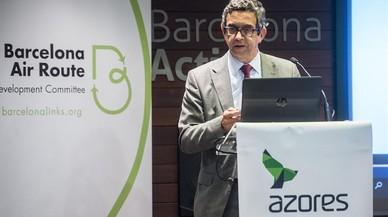 El consejero delegado de Azores Airlines, Paulo Menezes, en Barcelona.