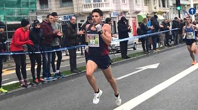 L'atleta de Gavà Marc Alcalá, flamant campió del Cross de Reis de Sant Sebastià