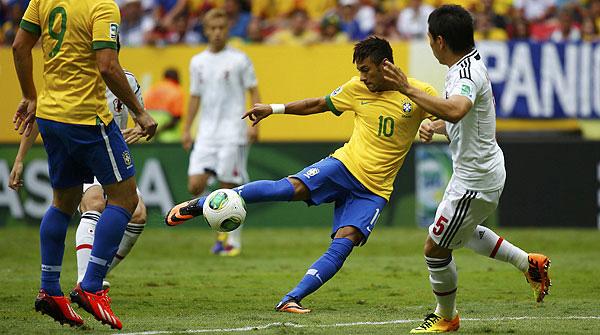 El gol de Neymar contra el Japó en la Copa Confederacions, aspirant al premi Puskas