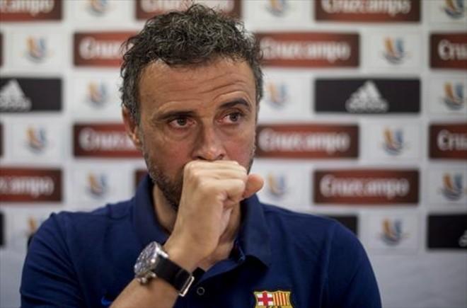 Luis Enrique hablará antes del desplazamiento del Barça a Anoeta.