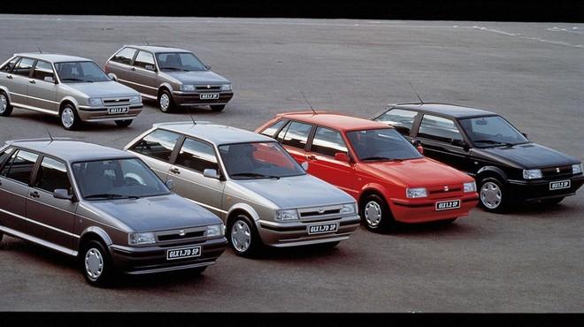 Los modelos Ibiza de los a�os 80, fecha en la que Volkswagen entr� en Seat.