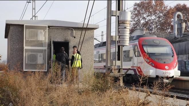 Subestaci�n de Mollet-Sant Fost afectada por el robo de cable de cobre del pasado mes de diciembre.