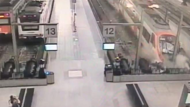 Un vídeo muestra el accidente de la estación de França