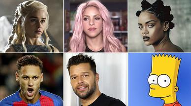 Daenerys, Shakira, Miley, Neymar i Ricky, els noms dels nous espanyols
