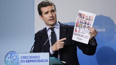 """El PP: al independentismo solo le apoyan el """"dictador"""" Maduro, el """"prófugo"""" Assange y el """"terrorista"""" Otegi"""