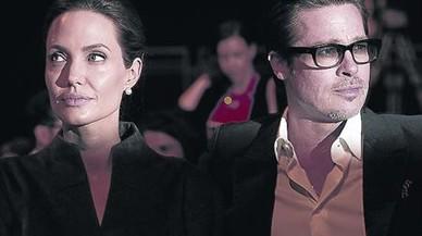 Pitt y Jolie, juntos en un acto en Londres, en julio del 2014.