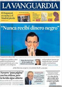 """Rajoy comparece en todas las portadas para clamar que """"todo es falso"""", que """"nunca"""" ha recibido dinero negro"""