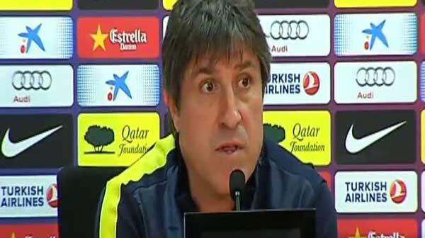El segundo entrenador del Bar�a no opina sobre lo ocurrido tras el �ltino cl�sico y se centra en el partido ante el Valencia.