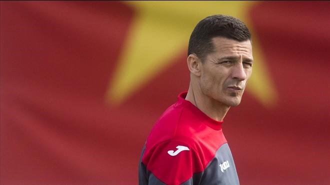 Galca, en el entrenamiento del Espanyol del pasado martes en Sant Adri�.