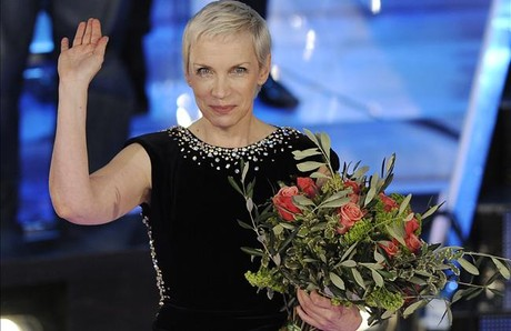 Annie Lennox, en el festival de San Remo del 2009.