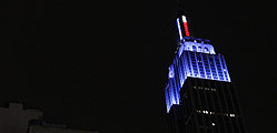 Y el Empire State Building se tiñó de azul