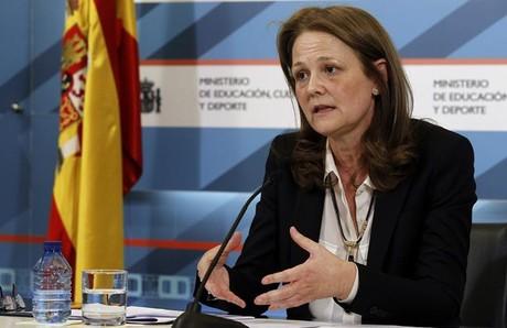 Montserrat Gomendio, este jueves, en el Ministerio de Educación.