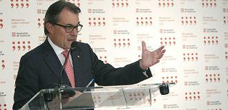 Mas, durante la rueda de prensa que ha ofrecido este mi�rcoles en Madrid tras reunierse con el presidente del Gobierno, Mariano Rajoy.