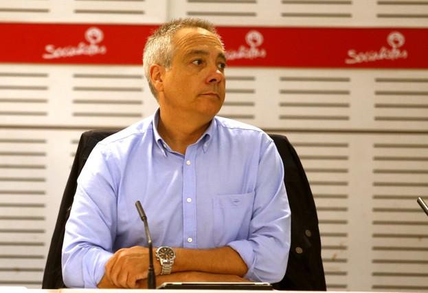 Pere Navarro, exprimer secretario del PSC, en una reunión de la ejecutiva del PSOE