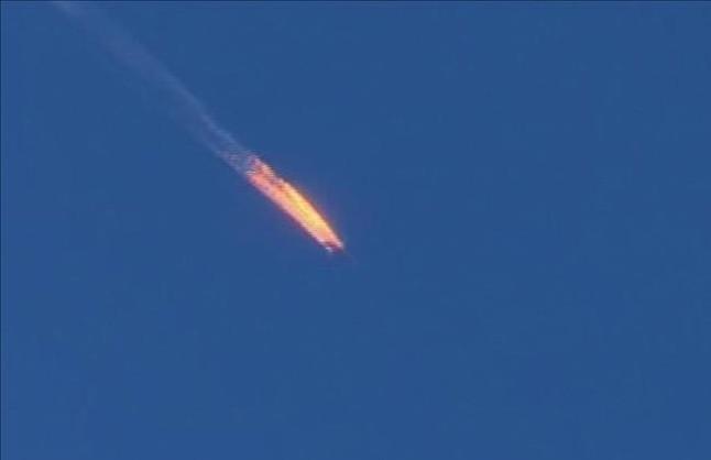 Avión ruso abatido por Turquía en noviembre del 2015.