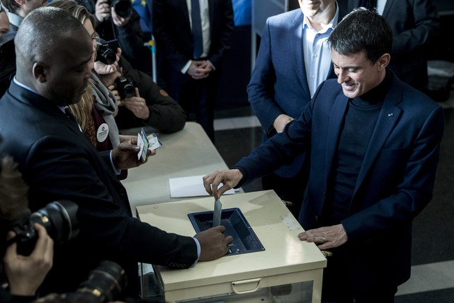 French Left wing party primaries Manuel Valls vote